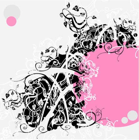 wektor streszczenie kwiatów tle Ilustracja