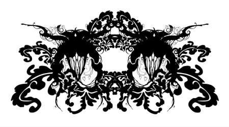 barok ornament: abstracte florale barok ornament - vector Stock Illustratie