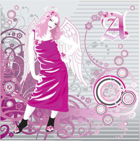 nimbus: angelgirl Illustration
