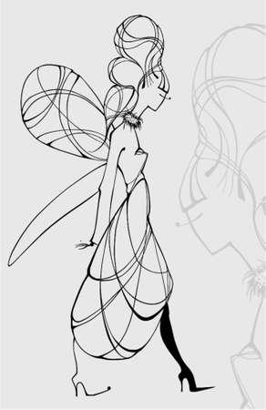 vector elf woman Illustration
