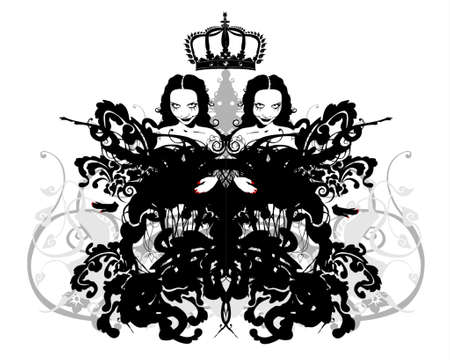 crowned twins Vector