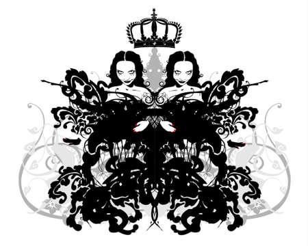 gemini girl: crowned twins