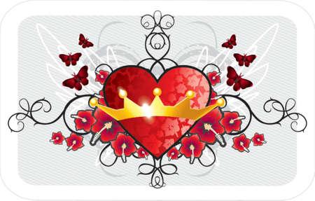 Valentine tle Ilustracja