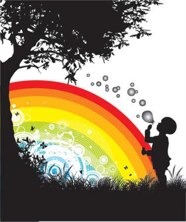 rainbows: soap bubbles Illustration