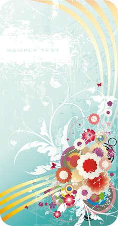 floral vector: verano vector floral de fondo Vectores