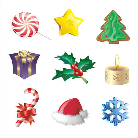 christmas icon set Stock Vector - 2068462
