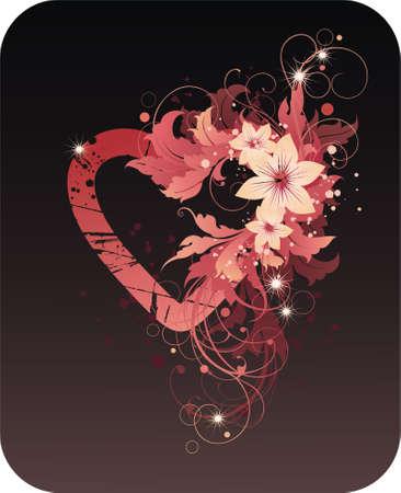 A forma di cuore cornice di San Valentino  Vettoriali