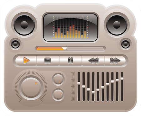 elementi per la pelle di audio digitale lettore mp3