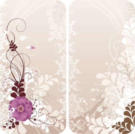 Grunge kwiatów tle
