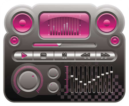 elements for skin of digital audio mp3 player, emo style Stock Vector - 3084725