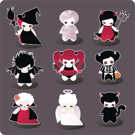 devils: Funny Halloween characters