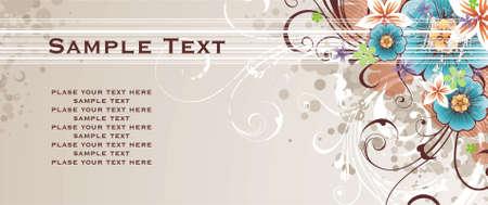 tu puedes: de fondo con la primavera de flores, adornos florales y elementos grunge. se puede colocar cualquier texto hay