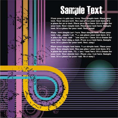 retro grunge background for cd cover or flyer Illustration
