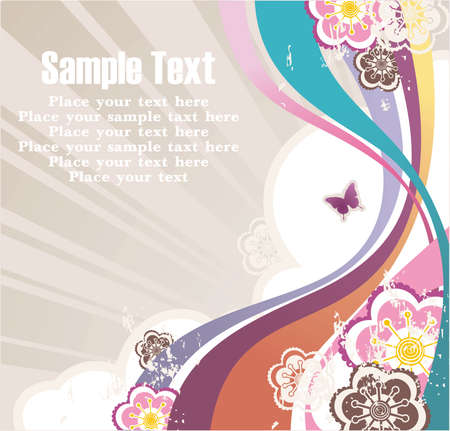 striped background with free space for your text, flowers and grunge elements