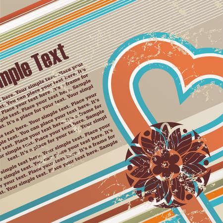 San Valentino grunge background con spazio libero per il vostro testo