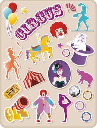 Circus naklejki