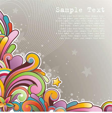 Nowoczesne kolorowym tle z wolnego miejsca na tekst Ilustracja