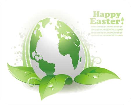 colored eggs: Easter ecological egg Illustration