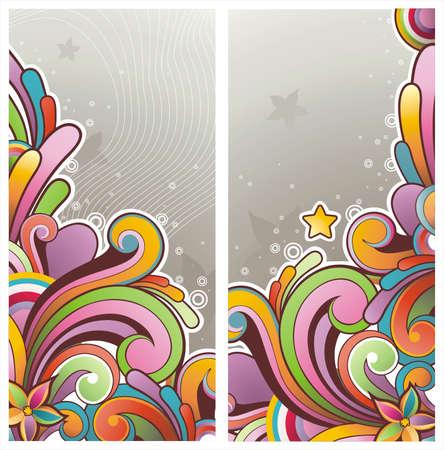 Moderna striscioni colorati con spazio libero per il vostro testo Vettoriali