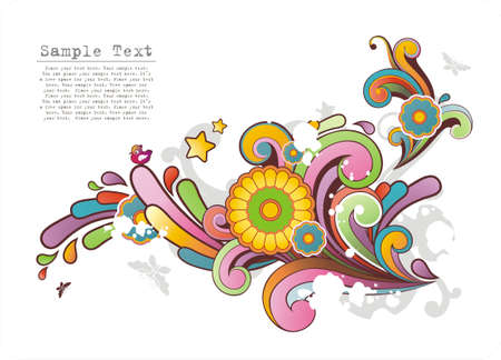 Modern background with free space for your text and colored ornament