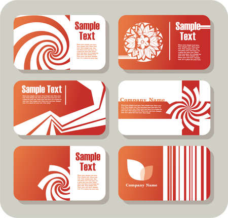 Collection of horizontal business cards templates Vector