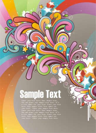 Modern background colorato con spazio libero per il testo Vettoriali