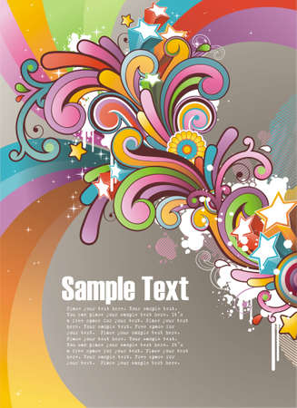 Modern colored background with free space for your text  Vector