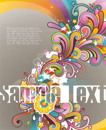 Modern colored background with free space for your text Illustration