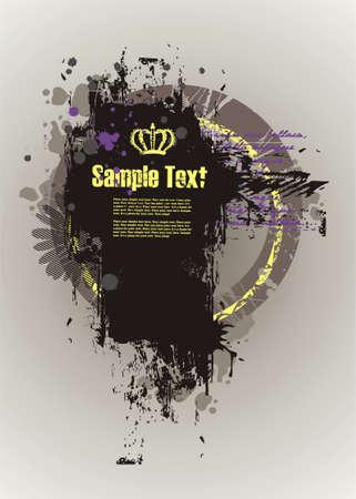Grunge dirty frame for text  Illustration