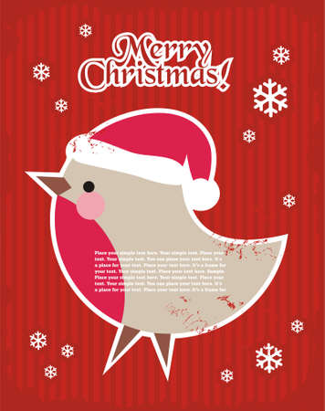 Christmas minimal simple postcard with decorative elements and space for your text. Stock Vector - 5754945