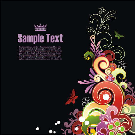 swirl composition: Modern colored background with free space for your text