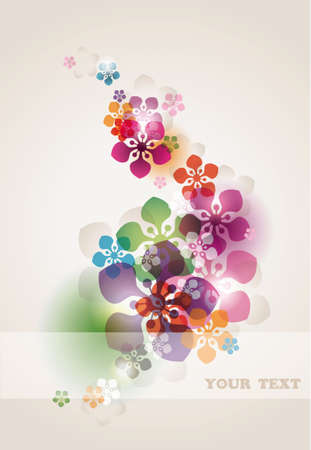 abstract floral background with transparency effect eps10