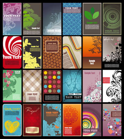 Collection of colored vertical business  cards templates in various styles. EPS10