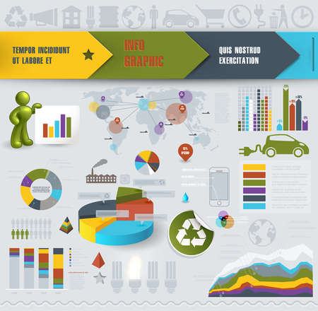 Set of info-graphics elements for design Vector