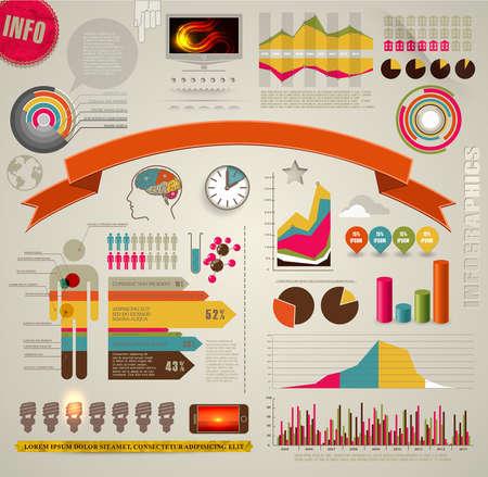 Set di colori Elementi Infographic