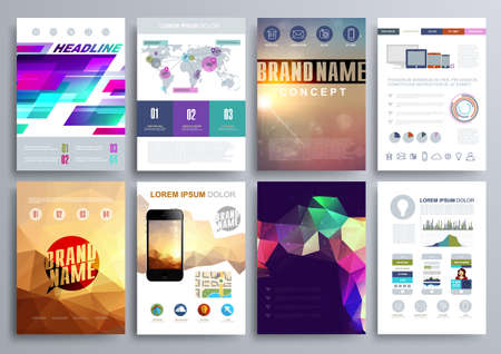 cover concept: Set of Design Templates  Illustration