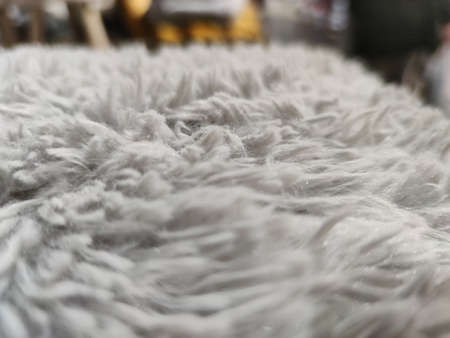 a white carpet detailed closeup. High quality photo