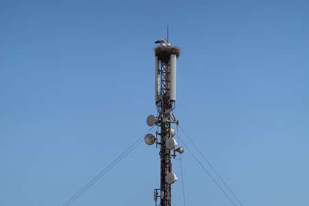 a cell tower anthena. High quality Photo