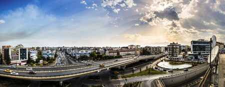 A panoramic scenery of the Mevlana Junction with its beauties from my balcony