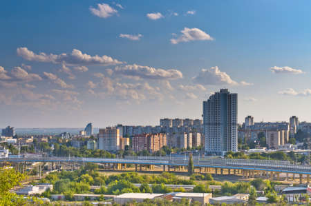 volgograd: City view of Volgograd from Mamaev kurgan Stock Photo