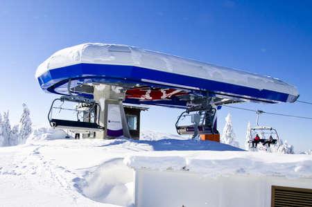 station ski: Ski lift station on the top of mountain  Kopaonik, Serbia