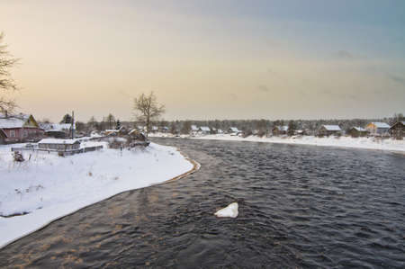 Shuya river and Besovec village photo