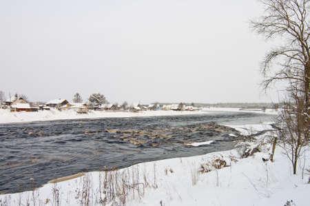 Shuya river and Besovec village