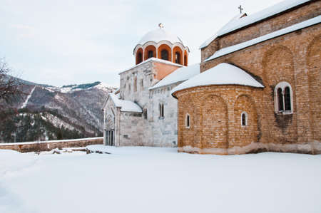 Studenica monastery yard photo