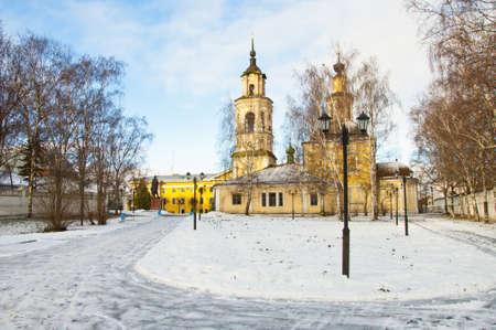nikolay: Nikolay temple in Vladimir town, Russia, winter. Stock Photo