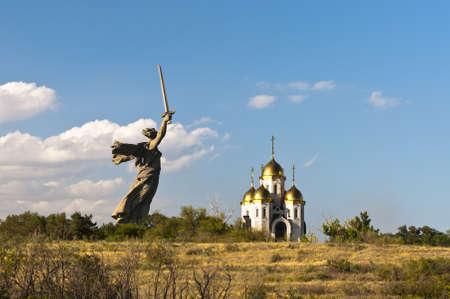 Motherland calls monument Stock Photo - 17395016