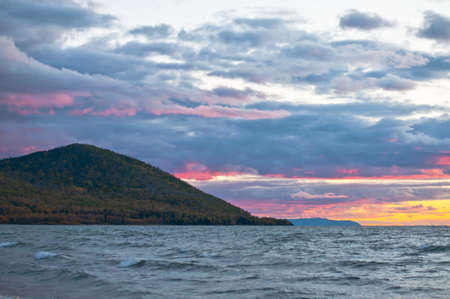 Sunset on Baikal lake Stock Photo - 17365134