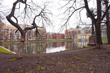 Patriarch pond in Moscow Stock Photo - 17381536