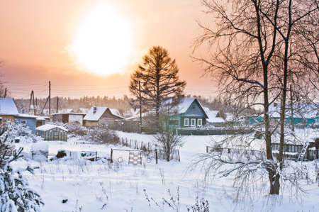 Sunrise in Besovec village Stock Photo - 17381514