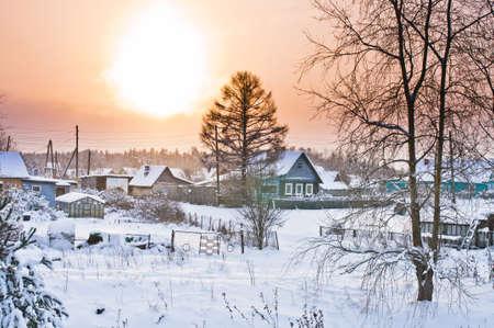 Sunrise in Besovec village Stock Photo - 17381514